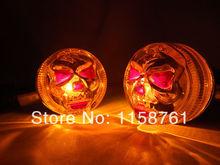 Red Led Skeleton Skull Bullet Turn Signal Lights Honda Goldwing Shadow GL VT VTX - Dayuan Motorcycle Store store
