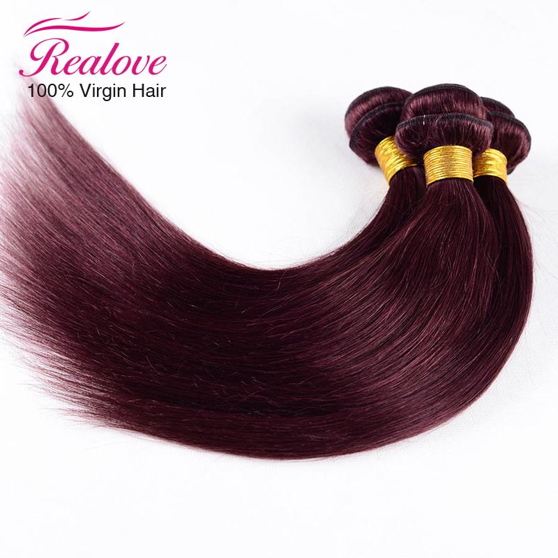 7A Top quality red hair extensions 3pc/lot 8-30 Brazilian Virgin hair Straight #99j Brazilian Hair burgundy human hair weaves<br><br>Aliexpress