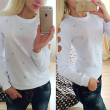 2015 new Summer  women fashion  sequins hollow out hoodies long-sleeves Swearshirt  sprotsuit(China (Mainland))