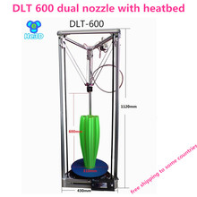 He3D Dual extruder DLT 600 3D printer DIY kit with heatbed large print size