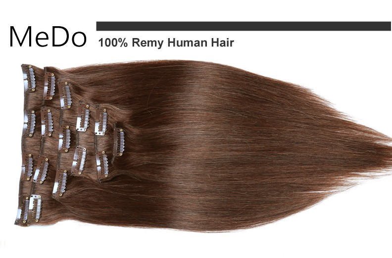Remy Virgin Brazilian Hair Clip In Real Human Hair Extensions clip in hair extensions human hair 4#&10pcs/set 70g to 220g