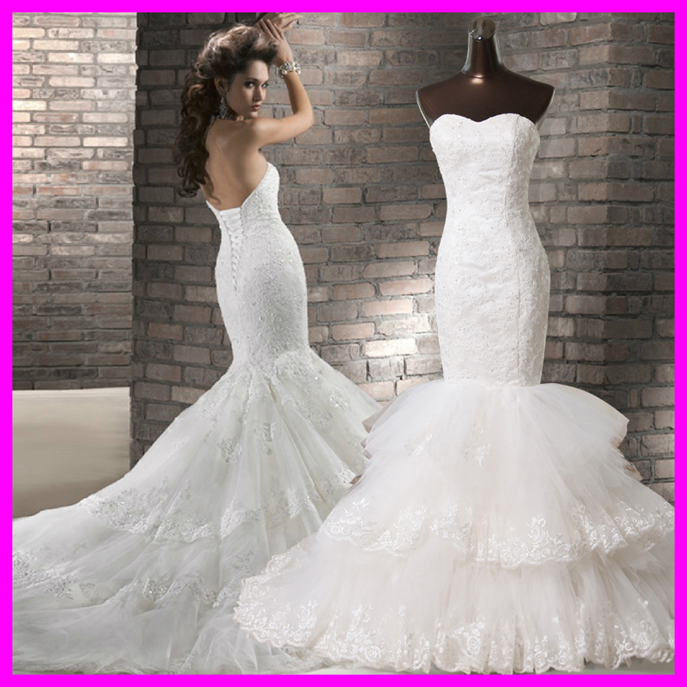 Vestido de noiva mermaid wedding dresses lace wedding for Vintage beaded lace wedding dress