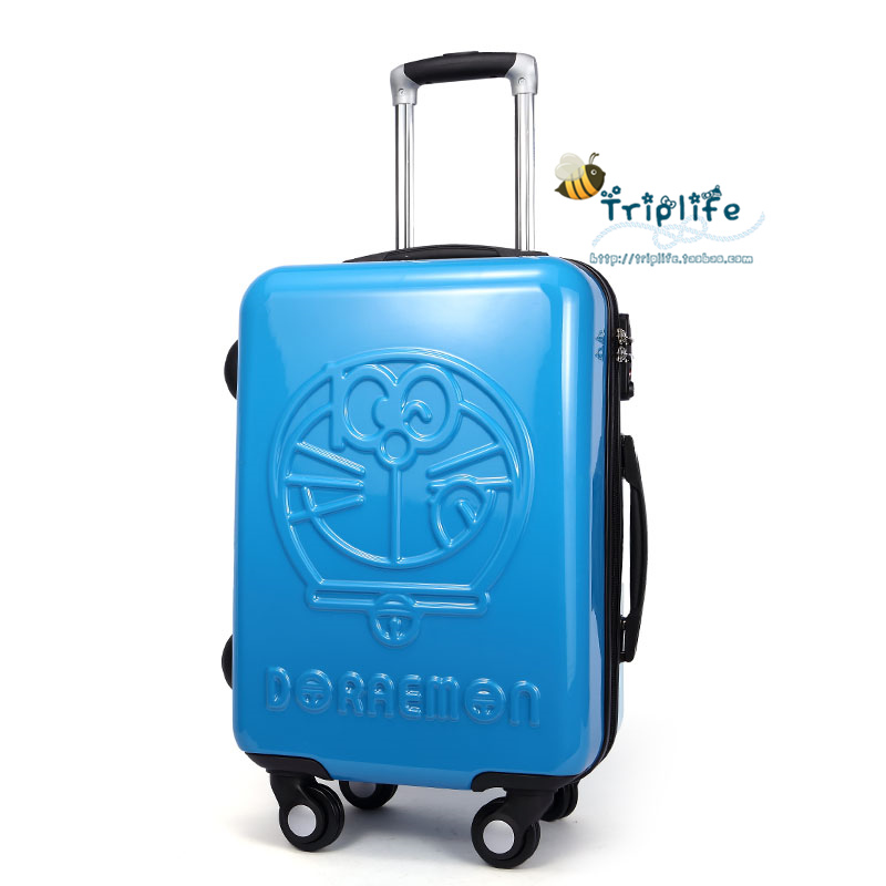 Lovely Luggage Cute Boys Doraemon Children Cartoon Universal Wheel 20 Inch Best Quality Travel Box Trunk Suitcase Free Shipping(China (Mainland))