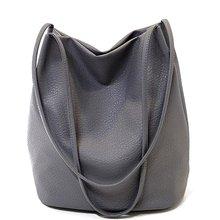 2016 Designer Women Leather Handbags Black Bucket Shoulder Bags Ladies Crossbody Bags Large Capacity Ladies Shopping Bag QT2001(China (Mainland))