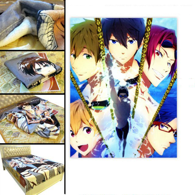 Free! -Eternal Summer Blanket Japan Anime Blankets Kawaii Gift Love day Special Present for BF Exclusive Intimate Close Lover(China (Mainland))