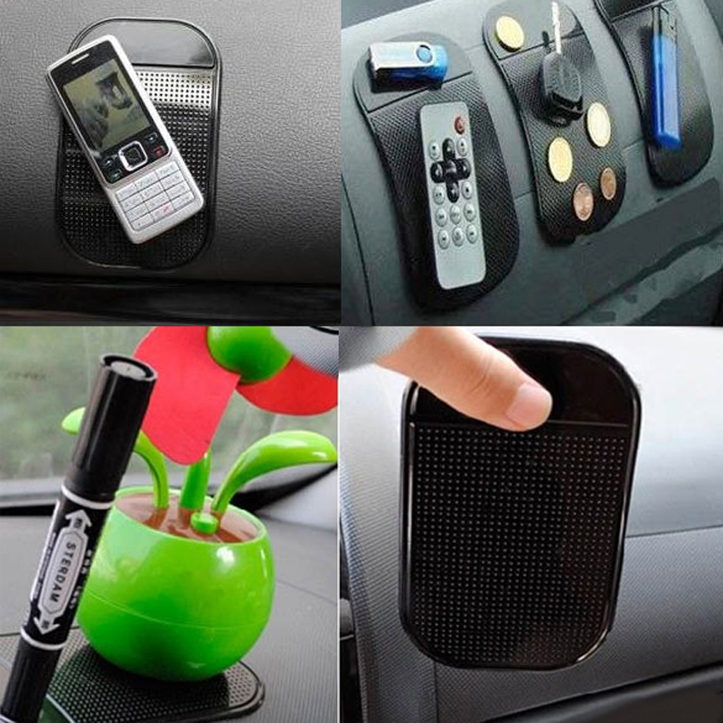 4PCs Black Universal Car Magic Sticky Pad Anti Slip Mat Non-slip Sticky Car Dashboard for Cell Phone GPS Holders Free shipping(China (Mainland))