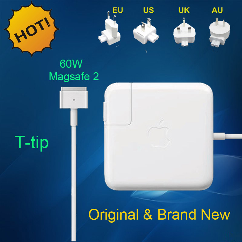 "Original New For magsafe 2 60W 16.5V 3.65A T tip Laptop power adapter charger for apple Macbook pro 13"" A1435 A1465 A1425 A1502(China (Mainland))"