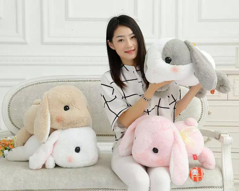 50 см Кролик Куклы Плюшевые Классический Лежал Кролик Игрушки Amuse Лолита Свисающий кролик Каваи Плюшевые Подушки