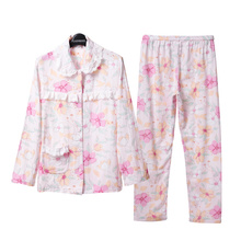 Song Riel new long sleeved cotton printing woman fresh cotton pajamas comfortable tracksuit glassware past love