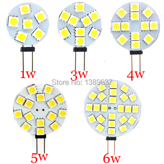 1 PCS DC 12V G4 LED Lamp Bulb 1W 3W 4W 5W 6W  5050 SMD Light Corn Bulbs Droplight Chandelier 5050SMD Spot light Cool/Warm White(China (Mainland))