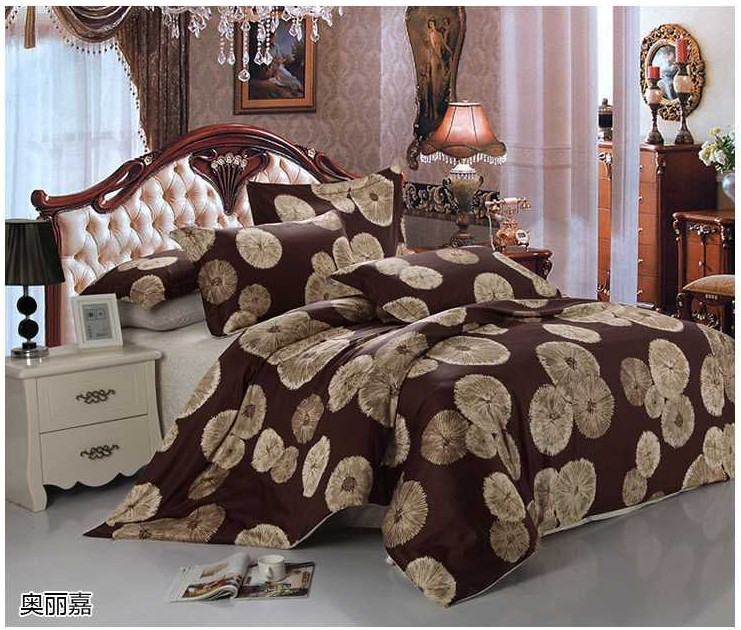 Luxury Egyptian cotton bedding set dandelion sheets king queen size quilt duvet cover bed bedsheet bedspreads 2015 bedset 4pcs(China (Mainland))