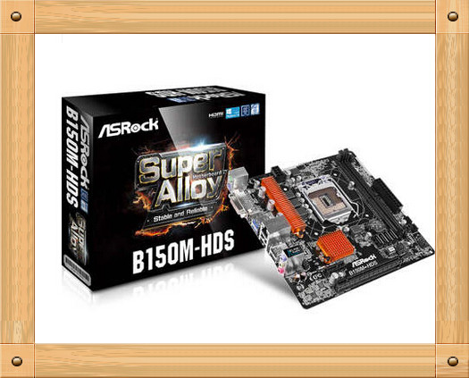 Free shipping ASRock b150m-hds desktop computer motherboard new authentic 18 * 19CM(China (Mainland))