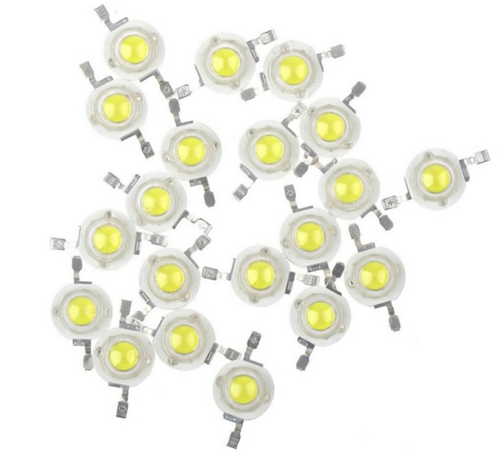 10pcs 3W High power 3000K~3500K Warm White 80~90LM LED Bead Diodes Light Lamp Part(China (Mainland))