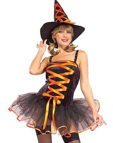 Free shipping! Witch Costumes Orange Halloween Costume Festival Clothes Sexy Costume 2322(China (Mainland))
