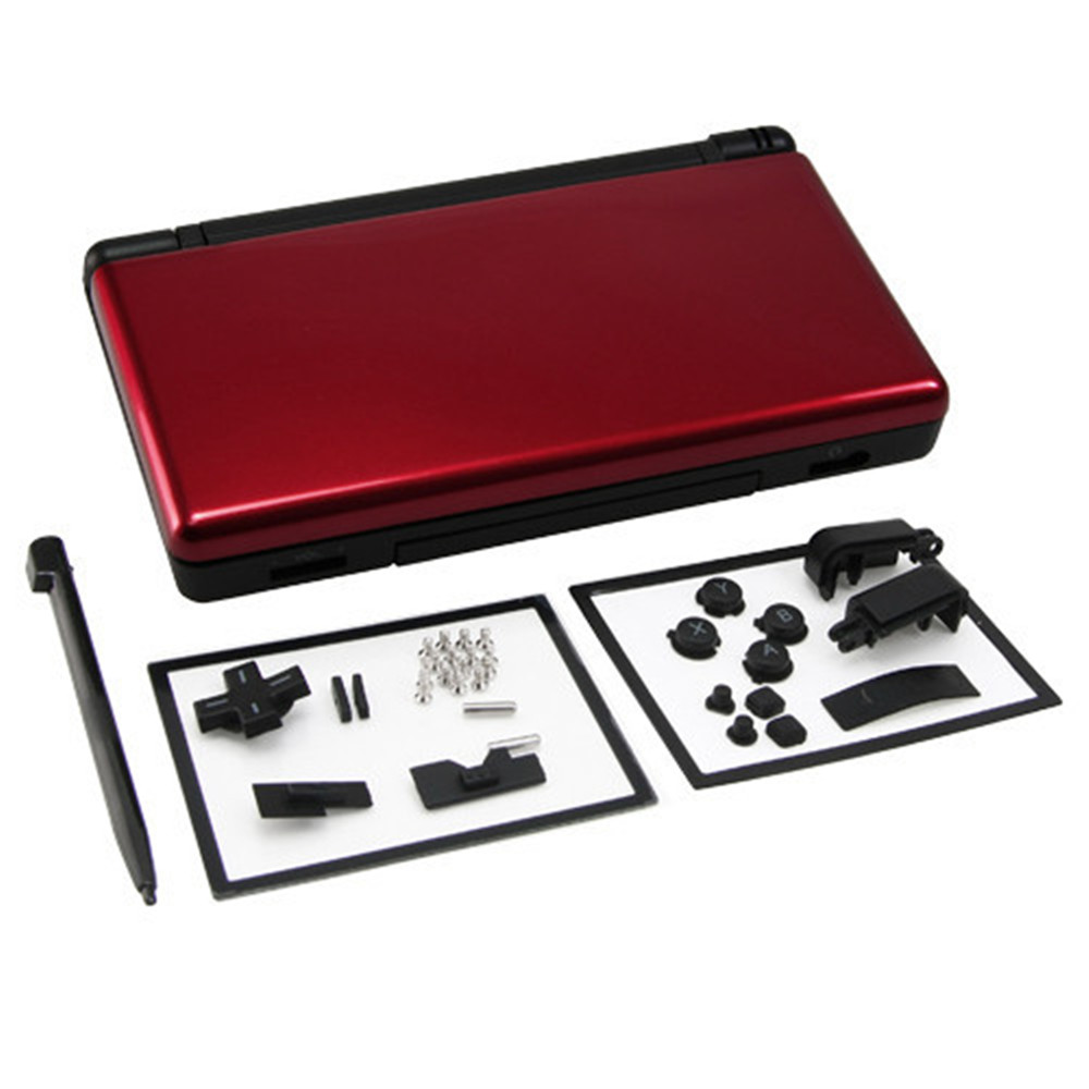 Red plus black Full Repair Parts Replacement Housing Shell Case Kit for Nintendo DS Lite NDSL(China (Mainland))