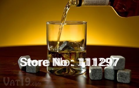 8pcs/set (2 sets) whisky rocks,whiskey stones,beer stone,whisky ice stone, bar accessaries free shipping
