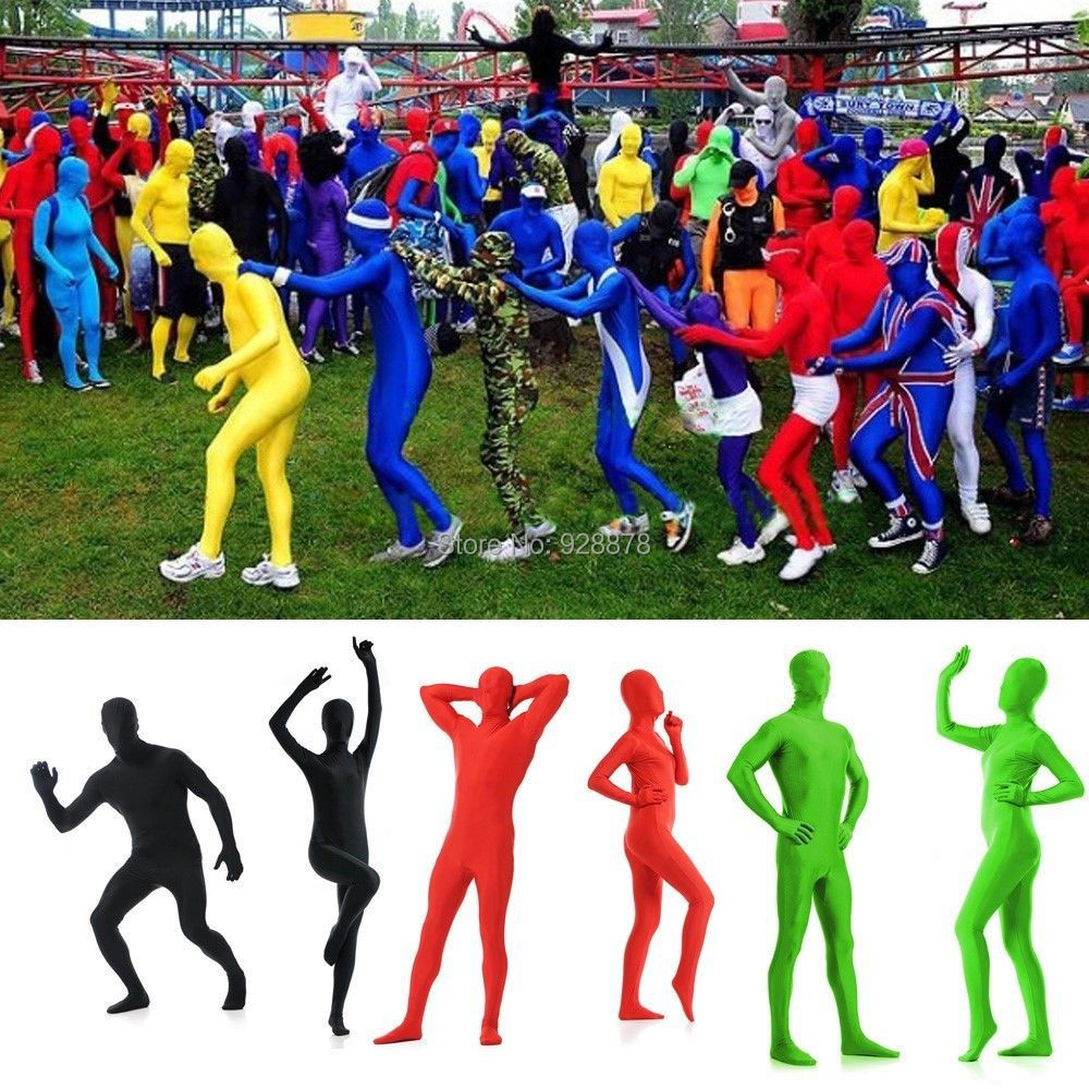 17 Various Colors,Sexy Lycra Spandex Zentai Full Body Suit Catsuit / Back Zipper ,Unisex, XS/S/M/L/XL/XXL - Online Store 928878 store