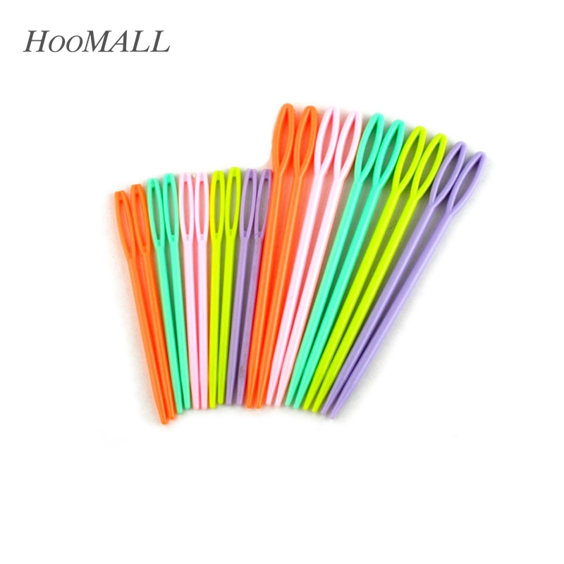1Set(20PCs) Plastic Knitting Needles Seam Sewing Tool Needlework Needle Arts & Crafts DIY 7cm 9.5cm Mixed