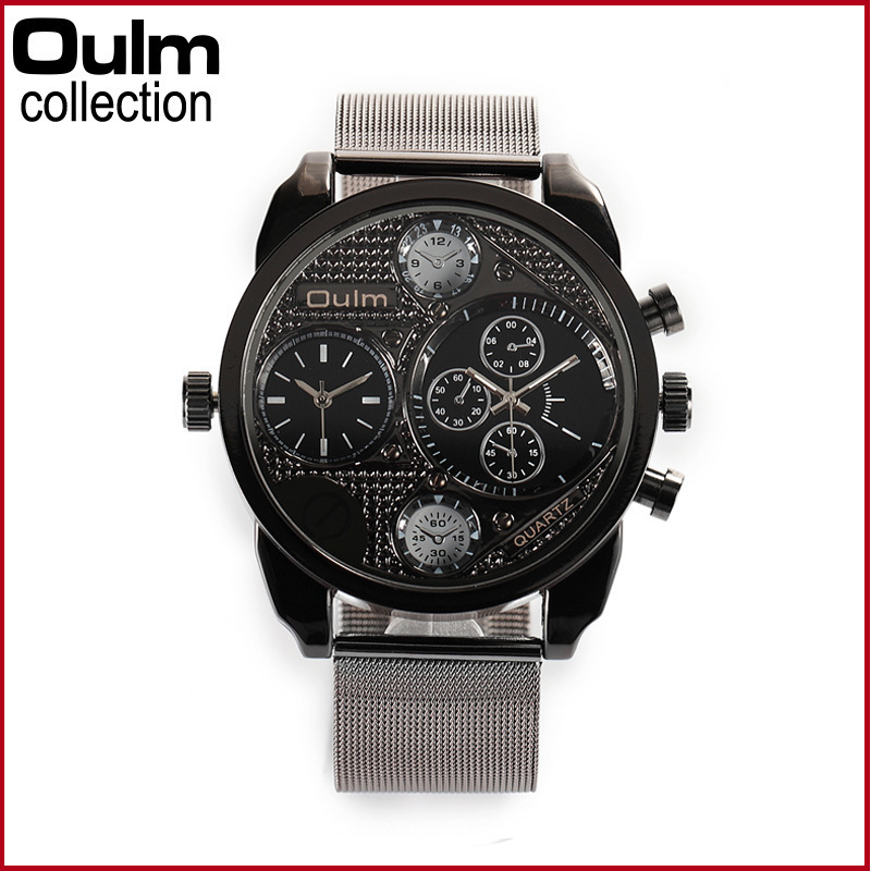 Fashion mens Watch sports leisure dual time zone Watch Alloy ribbon watches<br><br>Aliexpress