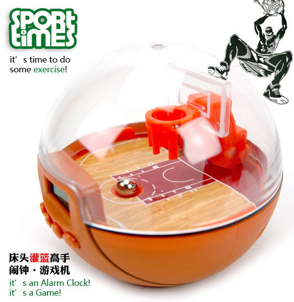 Sports recessionista sport times basketball alarm clock game machine