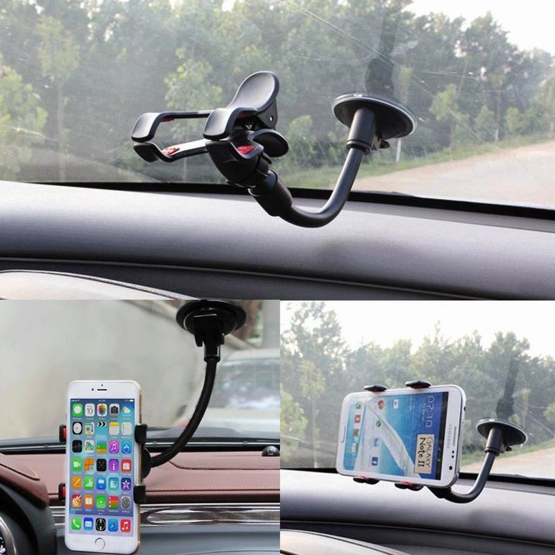 Universal 360 degree Soporte movil Car Cradle Bracket Clip Windshield Mount Cell Mobile Phone Stand Holder Suporte Celular Carro(China (Mainland))