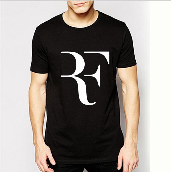 2016 Summer Roger Federer T Shirts RF Cotton O Neck Short Sleeve T-shirt Tennis Tshirts Brand Sports Shirt Men Tops Tees(China (Mainland))