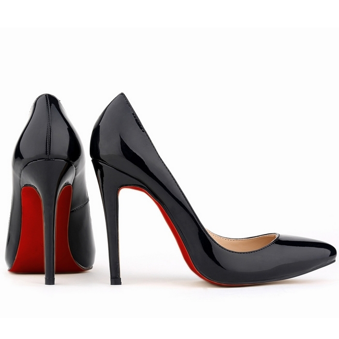776fda9b25ef 2015 Red Bottom Patent Leather pumps women pointed toe sexy high .