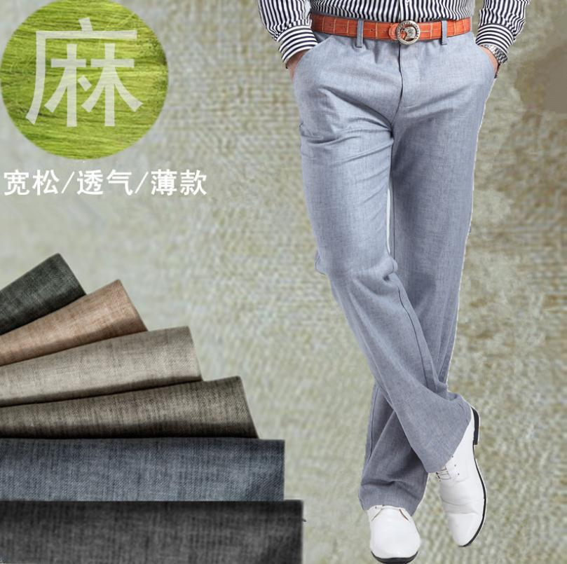 HOT SALE Men summer linen Casual pants Stretch Flax cotton casual trousers size 29-38 free shippingОдежда и ак�е��уары<br><br><br>Aliexpress