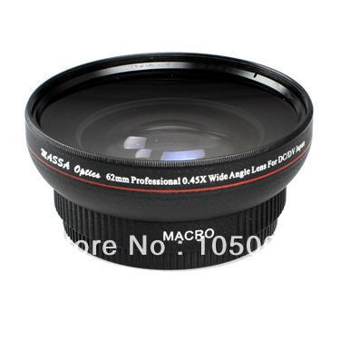 62mm 0.45X Wide Angle Macro Conversion Lens for nikon canon pentax sony DV DSLR camera(China (Mainland))