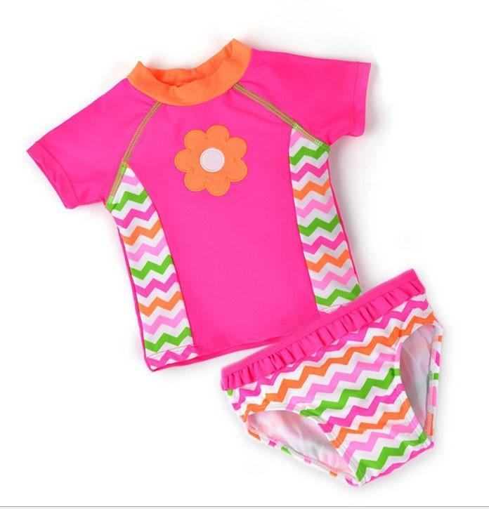 baby girls butterfly embroidery swimswear kids swimsuit children swim wear baby girls's beachwear bathing suit for baby girls(China (Mainland))