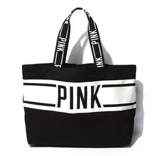 AC244 VIDEO SPORT women girl Bicolor large Weekend Bag Shopper Tote bag beach bag