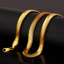 Gold Necklace Stamp 18K Real Gold Plated Stainless Steel Men Jewelry Wholesale New Trendy 5 MM