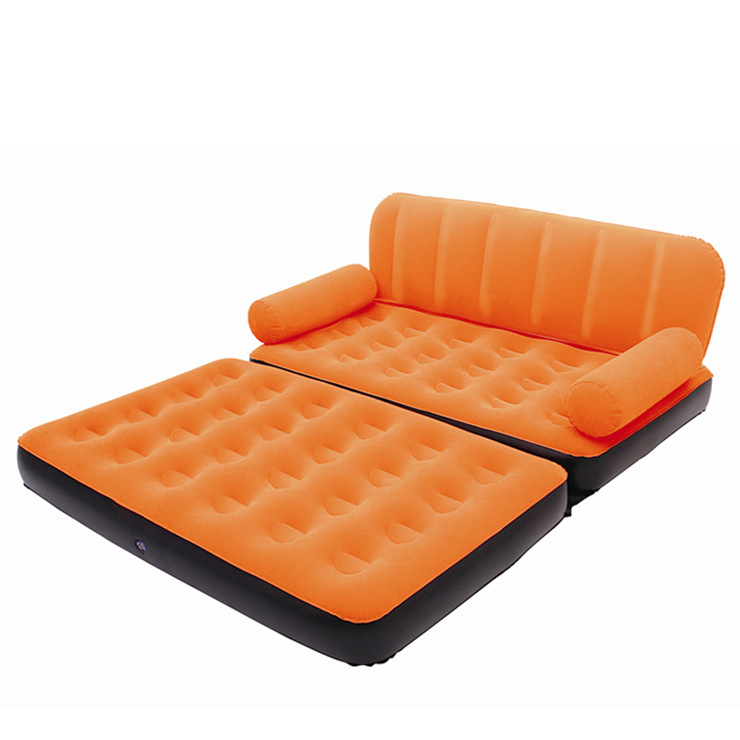 Inflatable sofa bed living room furniture recliner leather sofa set
