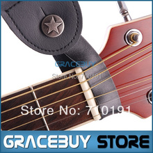 Genuine Leather Guitar Strap Button Holder for Acoustic, with Strong Metal Fastener, Fits Above Neck on Headstock(China (Mainland))