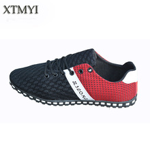 Men Shoes sales Fashion 2015 Summer Comfortable Sport Men Casual Shoes Mesh Breathable Plus Size 39-46 Flat Casual Shoes Men(China (Mainland))