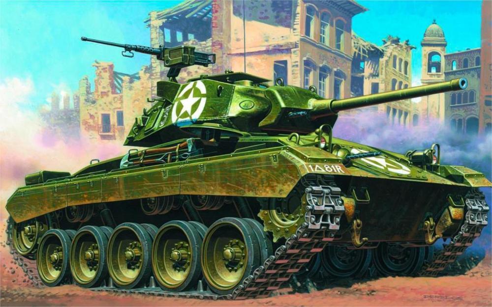 art tank M24 Chaffee light tank USA WW2. 4 Sizes Home Decoration Canvas Poster(China (Mainland))