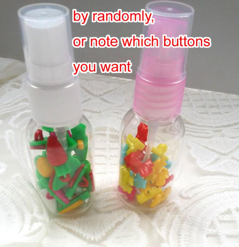 NEW ARRIVIAL! MIXED Plastic 20PCS PER bottle,bottle buttons,for camp use(China (Mainland))