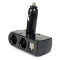 2016 New Hot 2 USB Charger Supply Double Sockets Car Cigarette Lighter Extender Splitter For Iphone