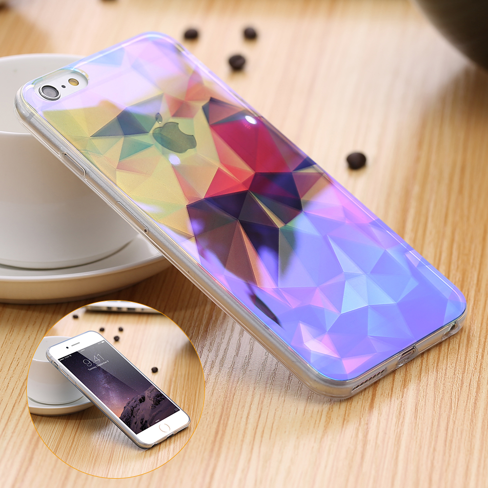 Colorful Artist Pattern Back Cover For iPhone 6 6S 4.7inch For iPhone 6 Plus / 6S Plus Slim Clear TPU Frame Shockproof Case Bag(China (Mainland))