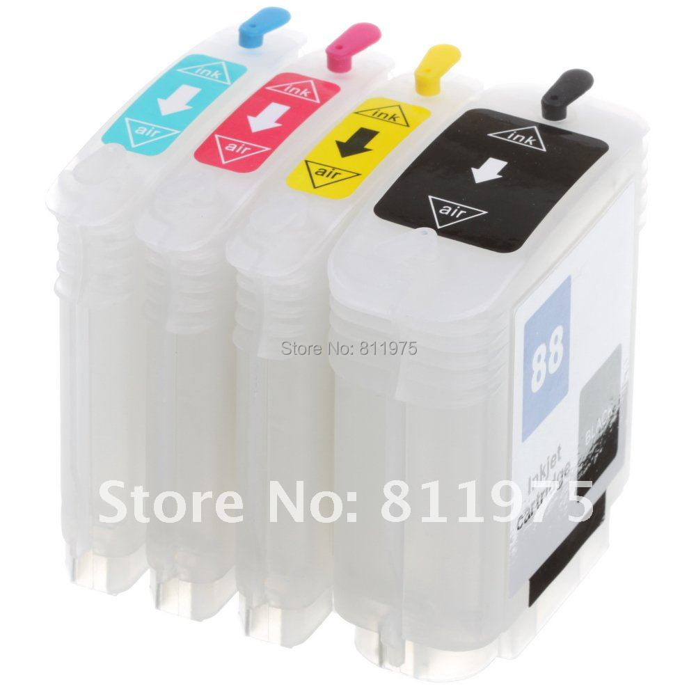 Free Shipping for HP88 HP 88 hp18 refillable Ink cartridge for hp printer L7590 L7650 L7680 L7681 L7700 L7750 L7780 K550/ K5400(China (Mainland))