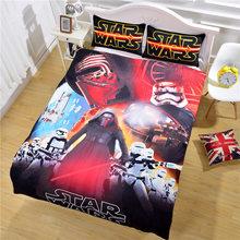 Лучшие Продажи Star Wars Постельные Принадлежности Яркие Печати Простыня Мальчики Спальня Подарок Пододеяльник Твин Полный Queen