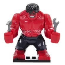 Marvel Super Heroes Figures Avengers RED HULK 7cm High The Amazing Action Figure Minifigure Building Block Sets Model Bricks