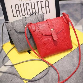 2016 New Fashion Mini Shell Clutch Purse Candy Color Women Messenger Bag Casual Women Bag Vintage PU Leather Women Shoulder Bag