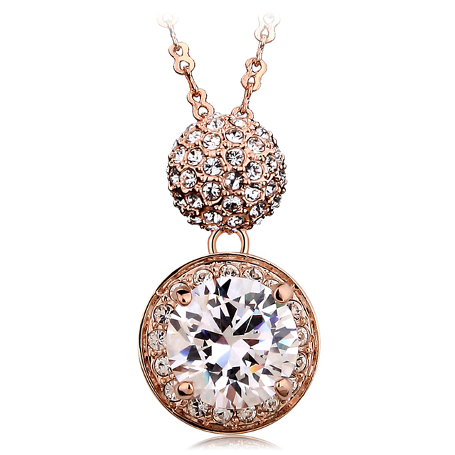 Accessories fashion elizabeth aaa zircon crystal necklace female short design lovers gift