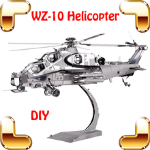Christmas Gift WZ-10 Helicopter 3D Model Building Kit Metal Helicopter Collection Toys For Boys Family DIY Work Cool Presen