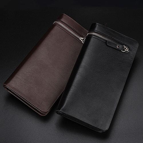 Mens Faux Leather Zip Long Wallet Purse Card Holder Checkbook Billfold Clutch<br><br>Aliexpress