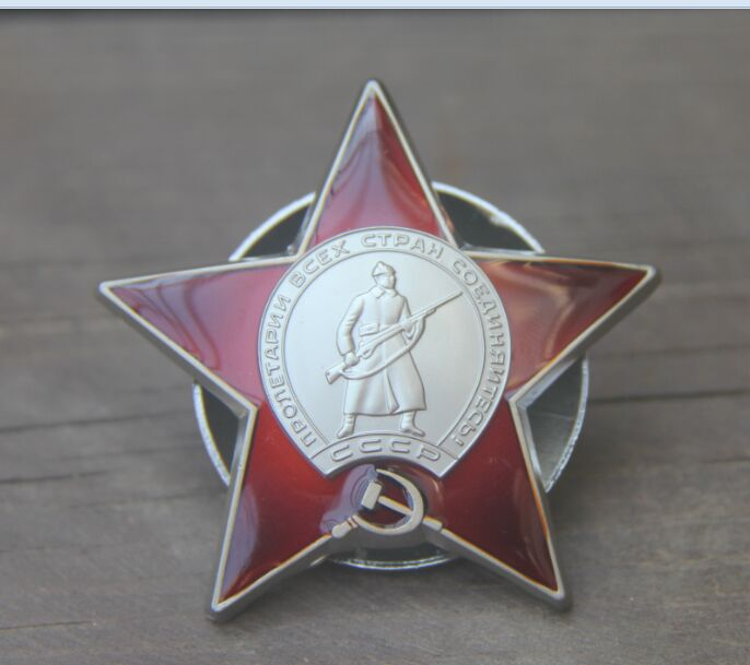 Red star ww2 wwii Russia russian red army military honor glory medal world war 2 china(China (Mainland))