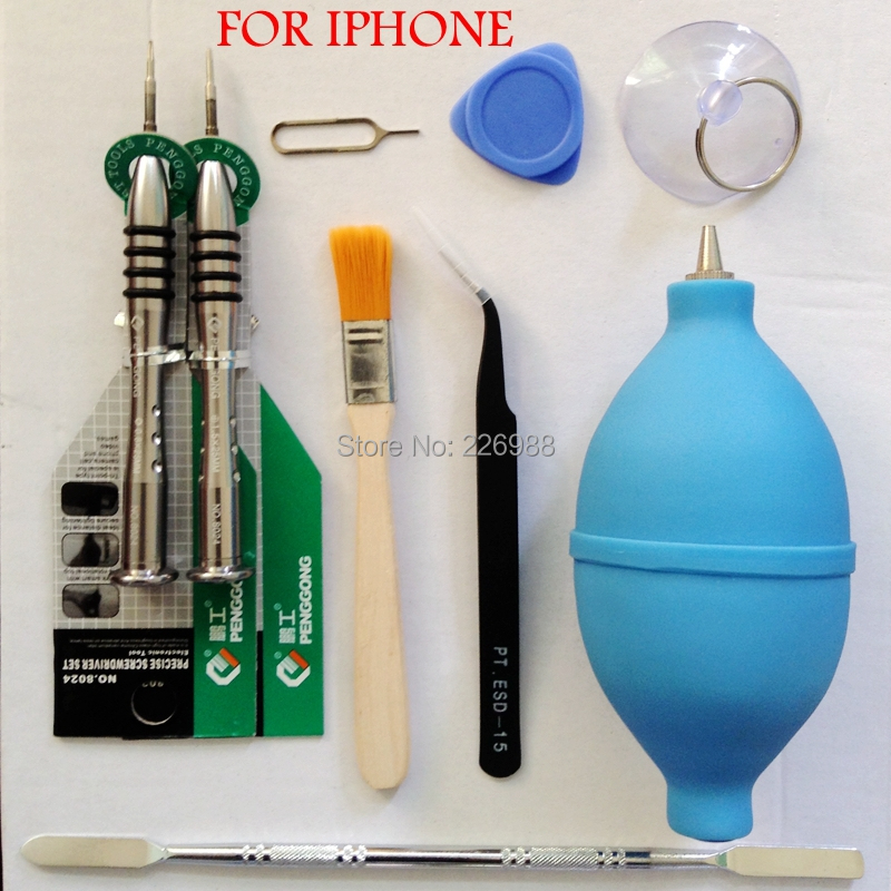 9 pcs mobile phone repair tool Professional Screwdriver LCD pry demolition suit for iphone Samsung Other phones(China (Mainland))