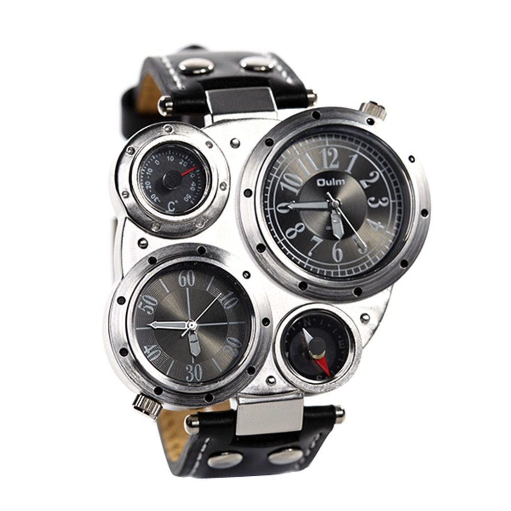 Multifunctional Men Compass Thermometer Date Dial Sport Army Quartz Wrist Watch 7993(China (Mainland))