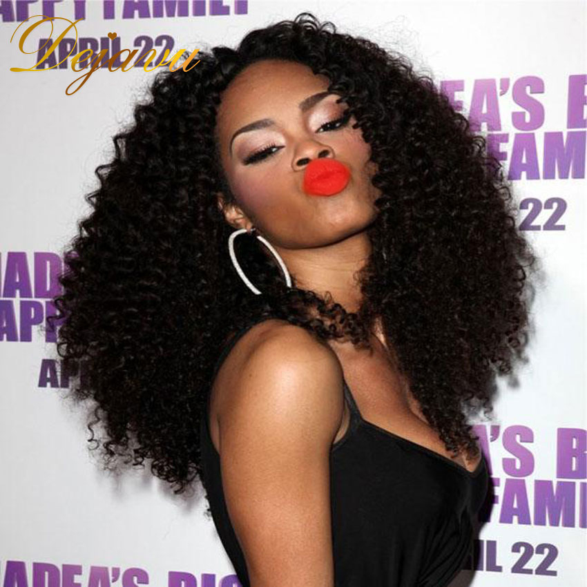 Dejavu Hair Products Peruvian Curly Hair 3pcs lot Human Hair Weave Curly Peruvian Virgin Hair Kinky Curly Hair Extension<br><br>Aliexpress